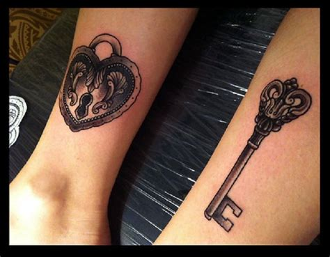 lock and key couple tattoo we should get the ones we ll
