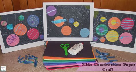 arts and crafts ideas with construction paper construction paper craft learn link with linky