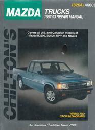 car repair manuals online free 1993 mazda b series plus transmission control 1987 1993 mazda trucks b2200 b2600 mvp navajo chilton total car care manual