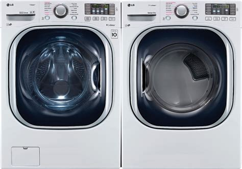 LG WM4370HWA Front Load Washer & DLGX4371W Dryer