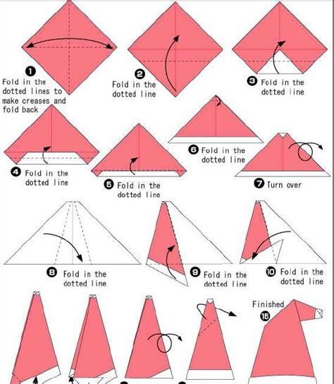 origami caps how to make origami how to make santa cap origami