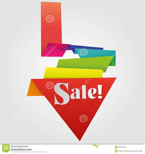 origami for sale origami sale label royalty free stock images image 19671599