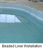 beaded pool liner replacement above ground pool ends