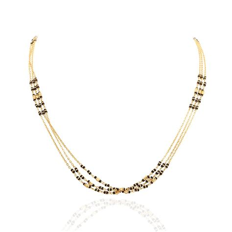 gold chain with black model chains three row black gold chain grt jewellers