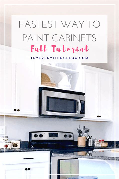 what is the best way to paint kitchen cabinets white the fastest way to paint kitchen cabinets with the best