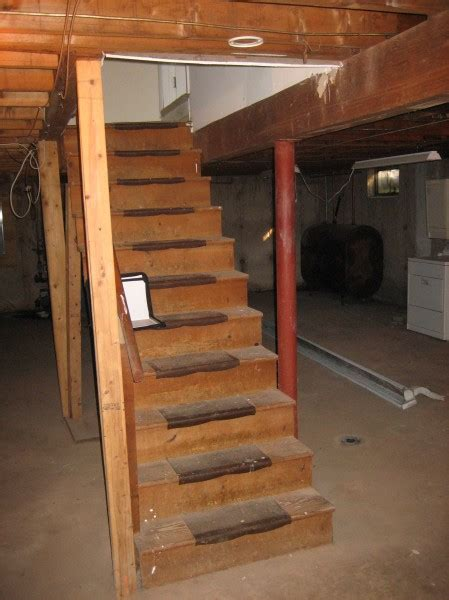 how to build basement stairs repairing basement stair opening and stairs building