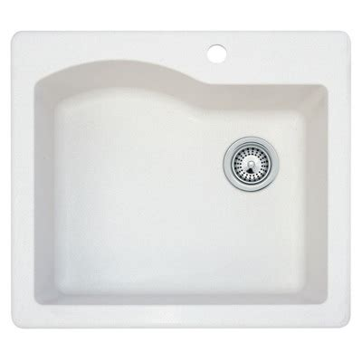 swanstone single bowl kitchen sink swanstone qzsb 2522 075 granite single bowl drop in