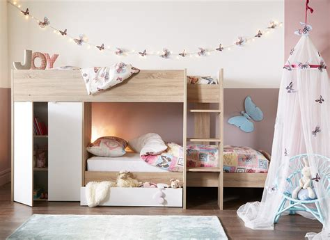mid high bunk beds finley bunk bed oak and white dreams