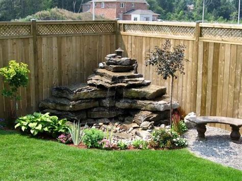 backyard feature wall ideas amazing diy water feature ideas on a budget s crafts