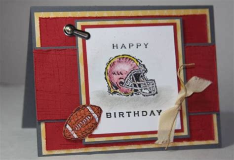 football birthday cards to make football birthday card cards masculine