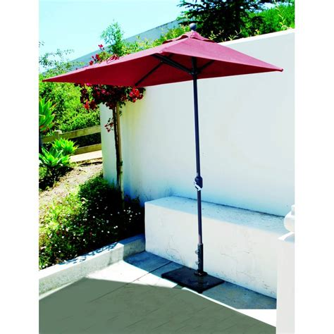 commercial patio umbrella galtech 3 5x7 half wall commercial patio umbrella