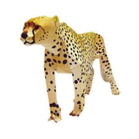 cheetah crafts for actividades manuales de guepardo de papel 3d es