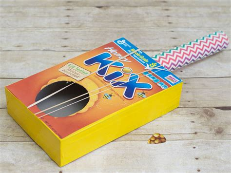 paper guitar craft sensory learning 183 kix cereal