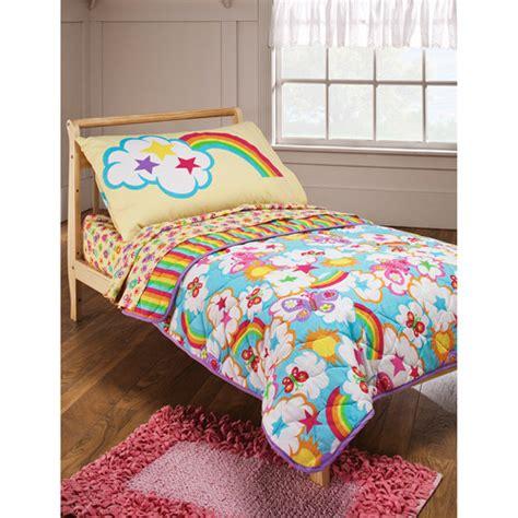 rainbow bedding crayola rainbow delight 4 toddler bedding set