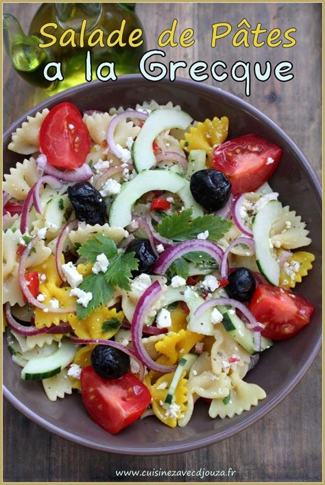 1000 id 233 es sur le th 232 me salades de pates grecques sur p 226 tes grecs salade et