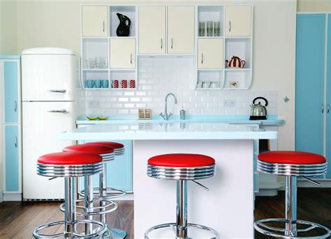 classic vintage modern kitchen blue gray cabinets inset 20 elements to use when creating a retro kitchen