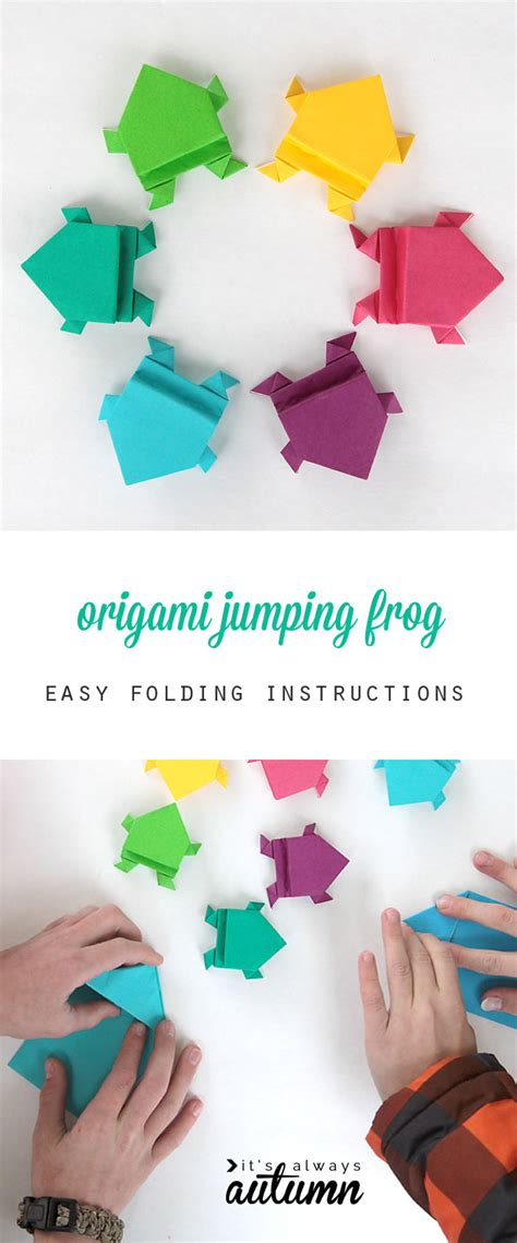 origami for 6 year olds origami jumping frogs easy folding it s