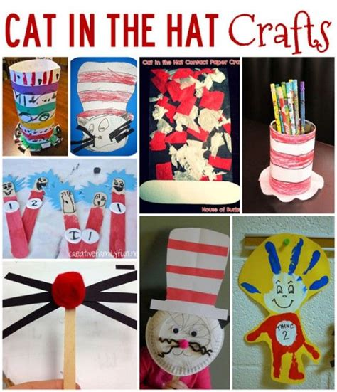 cat in the hat crafts for crafts to celebrate dr seuss birthday