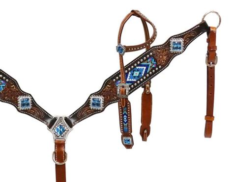 beaded tack sets bridle and breast collar matching sets