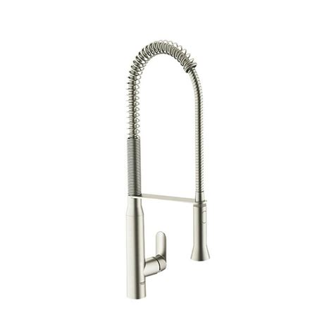 grohe k7 kitchen faucet shop grohe k7 supersteel 1 handle deck mount pre rinse kitchen faucet at lowes