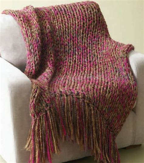 knitting patterns using size 50 needles brand homespun 6 hour throw 34x54 in not including