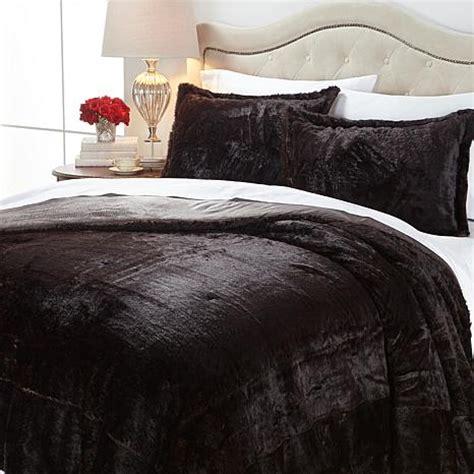 faux fur comforter set a by adrienne landau faux fur comforter set mink new