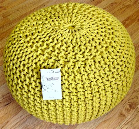 knitted foot stools new contemporary chunky knit knitted pouffe foot stool