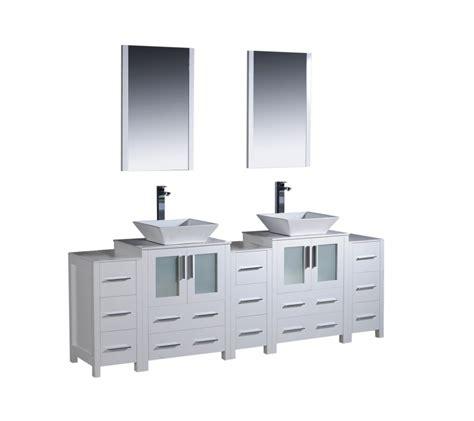 bathroom vanities 84 inches 84 inch vessel sink bathroom vanity in white with