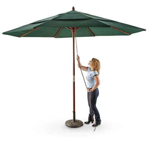 patio umbrellas canada castlecreek 3 tier 11 umbrella 233708 patio