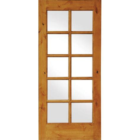interior glass doors home depot krosswood doors 36 in x 80 in knotty alder 10 lite low e insulated glass solid wood left