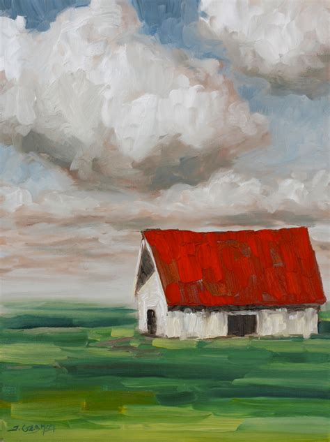Expressionist Barn Acrylic Painting Lesson Tim Gagnon