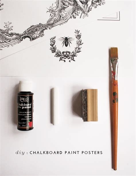 diy chalkboard poster print and paint diy chalkboard paint posters home tree