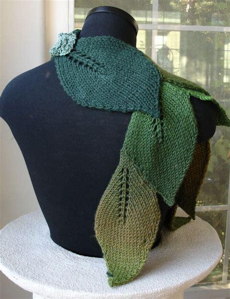 leaf knitting pattern scarf pdf for suzanne sullivan knit leaf scarf pattern