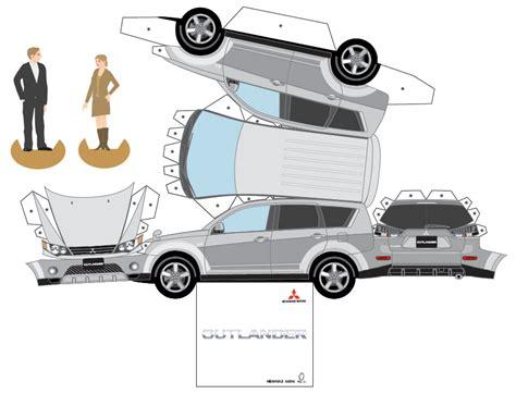 paper craft cars mitsubishi paper cars cartype