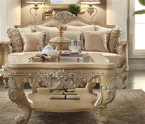 Acme Furniture Dining Room Set homey design hd 4931 dore wood trim sofa usa furniture