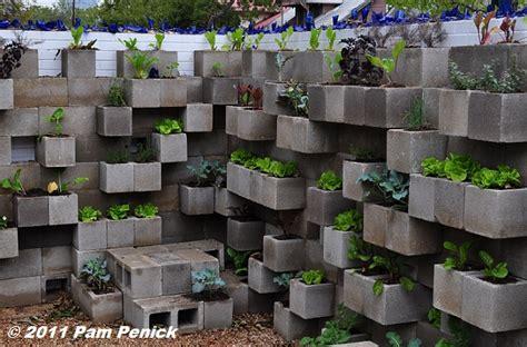 cinder block garden wall edible wall cinderblock wall vegetable garden wows at big