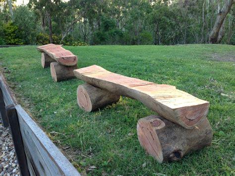log woodworking log benches by watermark lumberjocks woodworking