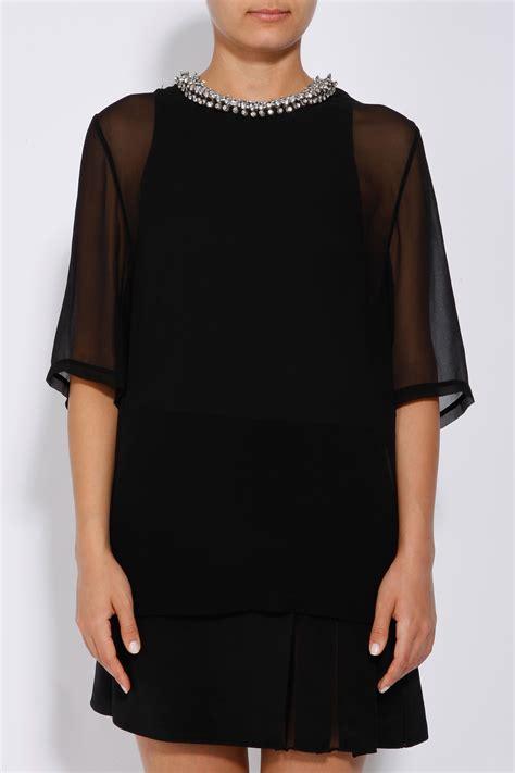 beaded collar dress 3 1 phillip lim layered dress with beaded collar in black