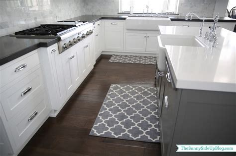 Black Kitchen Islands priorities and new kitchen rugs the sunny side up blog