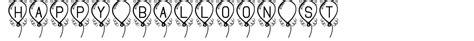 rubber st font generator happy balloon st font