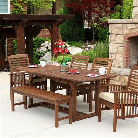 acacia patio furniture we furniture solid acacia wood 6 patio