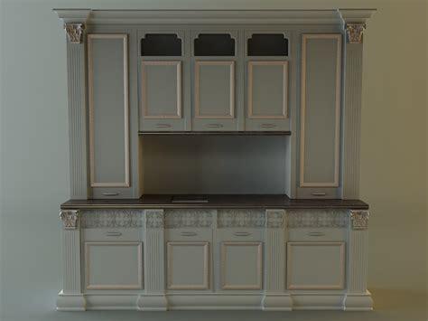 kitchen cabinet 3d kitchen cabinet 3d model max 3ds fbx cgtrader