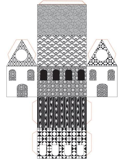 paper house craft print cut paste craft 187 archive 187 free printable