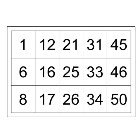 how to make bingo cards with numbers search results for free printable number bingo cards