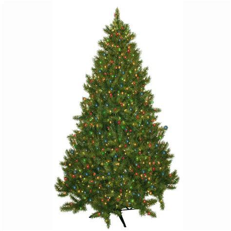 pre lit colored lights tree general foam 7 5 ft pre lit carolina fir artificial