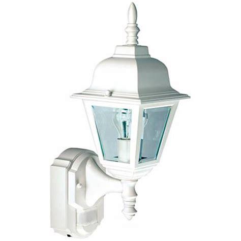 white motion sensor outdoor light country cottage white outdoor motion sensor wall light