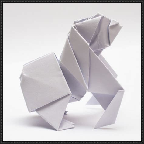 origami gorilla papercraftsquare new paper craft how to fold an