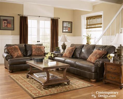 decorating a living room with brown leather furniture living room paint color ideas with brown furniture