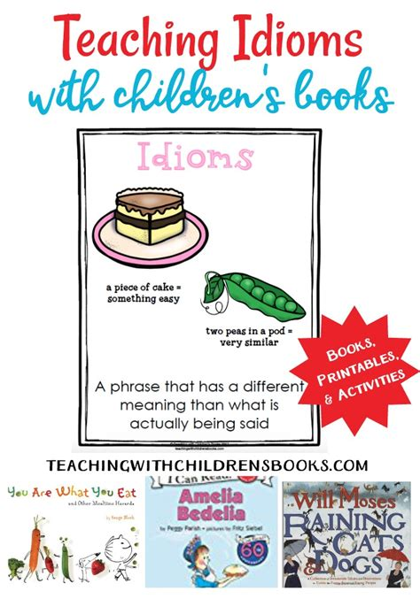 picture books with idioms how to teach onomatopoeia with picture books free printables