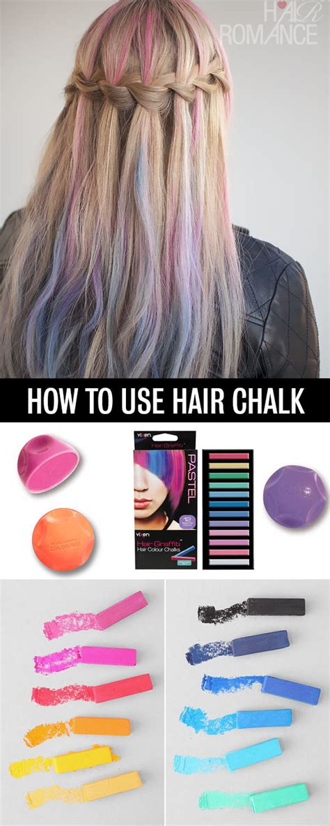 how to use in hair how to use hair chalk hair